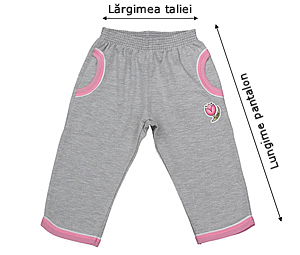 Tabelul de mărimi pentru pantaloni jogging LACI