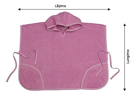 Tabelul de mărimi pentru ponchouri de baie