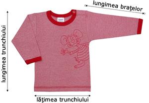 Tabelul de mărimi pentru tricouri