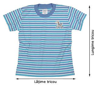 Tabelul de mărimi pentru tricouri tradiţionale